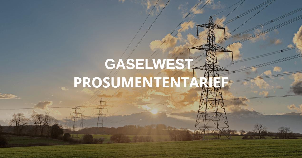 Gaselwest prosumententarief