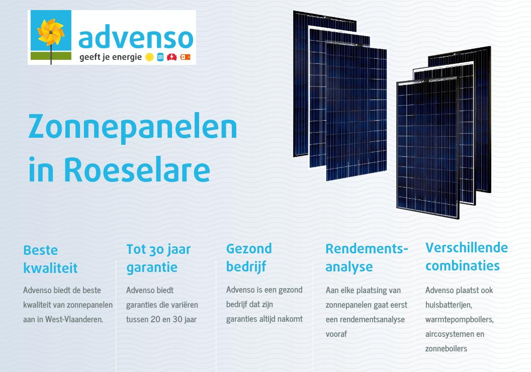 Zonnepanelen in Roeselare